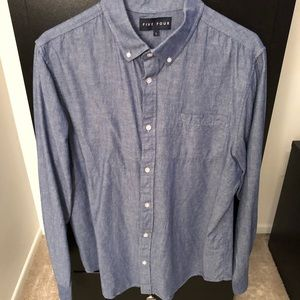 Like New Five Four blue chambray button-down shirt